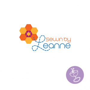 Sewn by Leanne quilting inspired logo design