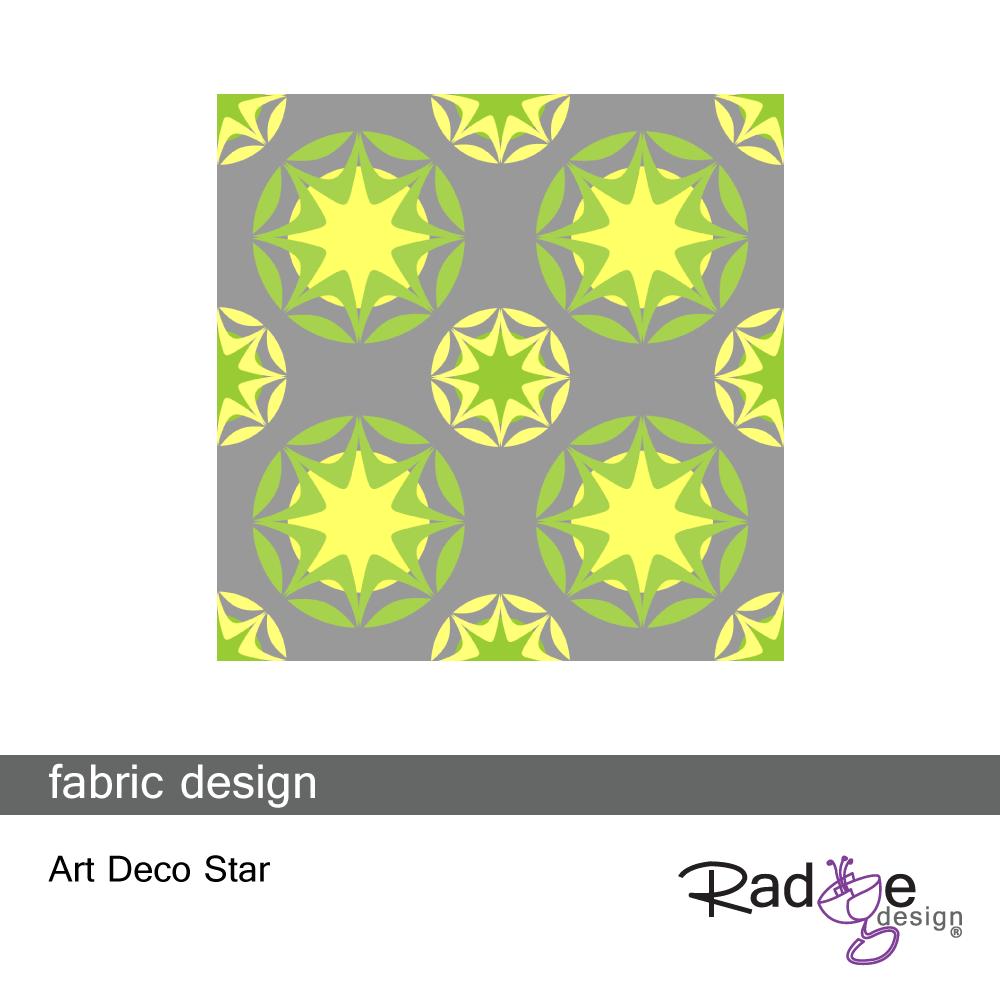 Art Deco Star Yellow