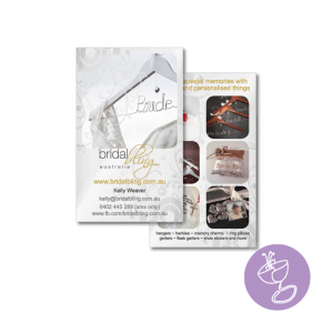 bridal bling business card design by radge design