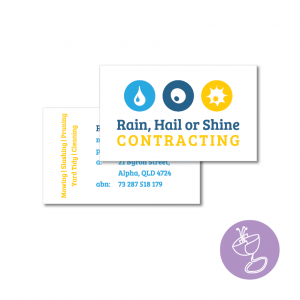 rain hail or shine contracting logo design by radge design