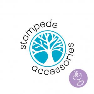 stampede accessories hand drawn logo design by radge design
