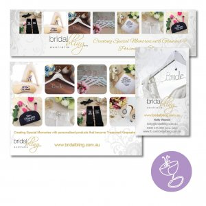 branding materials developed for Bridal Bling using her existing logo design