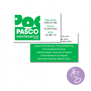 pasco maintenance business card design