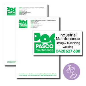 pasco maintenance letterhead and signage
