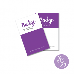 branded for you badge backing card