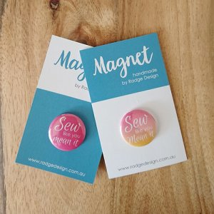 two pretty poppets branded magnets