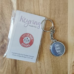 branded for you keyring silver