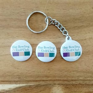 branded for you keyring swivel