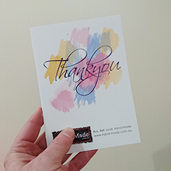 Thankyou card design for Hand-Made