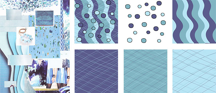 surface pattern designs from collage