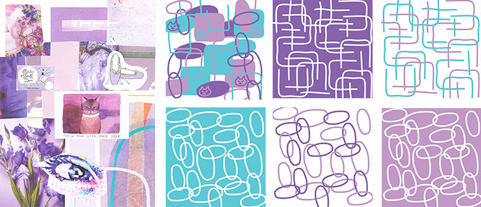 Lilac Cat – a surface pattern collection