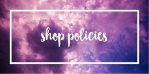 shop policies radge design
