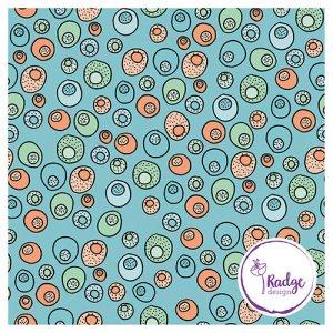 pattern design Tropical Papaya Coconut Beach