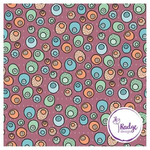 surface pattern design Tropical Papaya Coconut Sunset