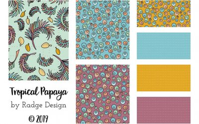 Tropical Papaya – Surface Pattern Collection