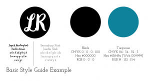 basic style guide example