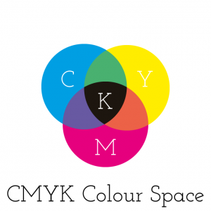 CMYK colour space simple graphic