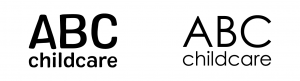 abc childcare example of how fonts change feeling