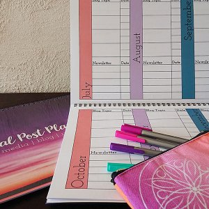 inside of social post planner for planning blogs