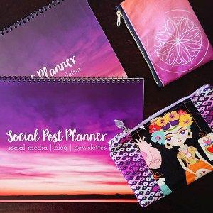 social post planner printed