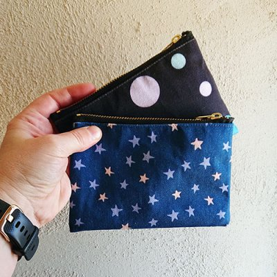 dots or stars pouch designs