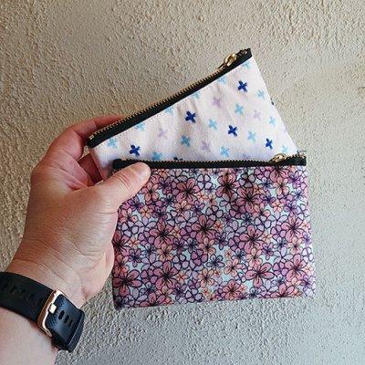 pantone2020 and shoreline cross design small pouches