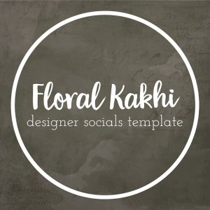 floral kakhi earthy inspired template for social media