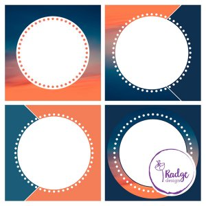 social media template in oranges and blues