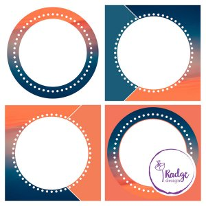 templates for social media in oranges and blues