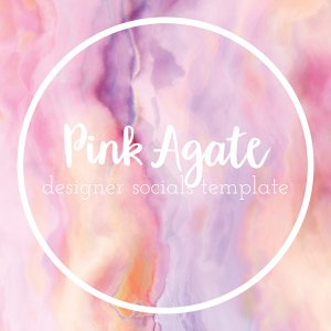 pink agate a romantic social media template
