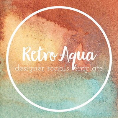 retro inspired social media templates