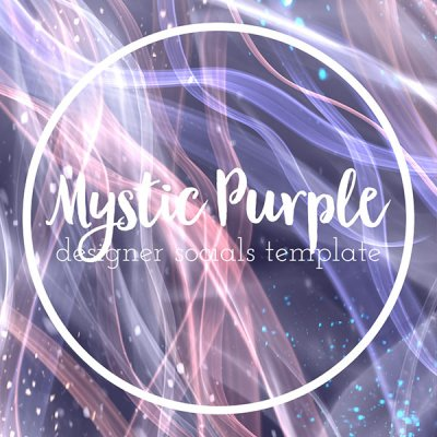 mystic purple templates for instagram posts