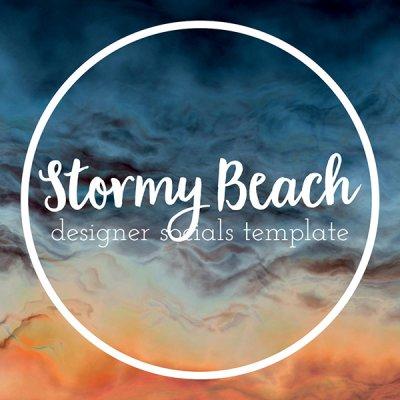 stormy beach designer socials templates