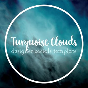 turquoise clouds templates for quote posts