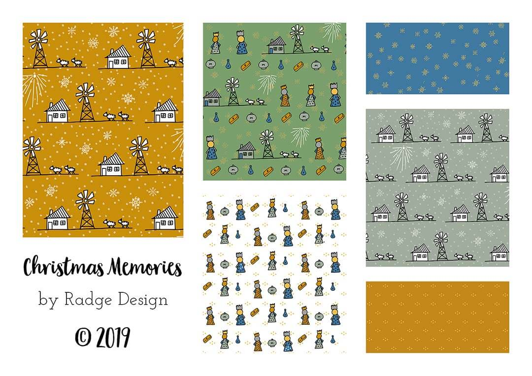 christmas memories surface pattern fabric collection