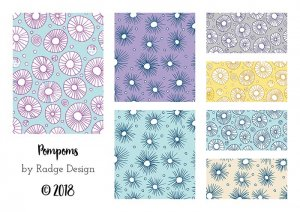 pompom inspired surface pattern design