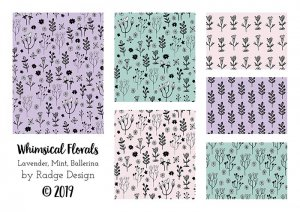 whimsical florals in pastels