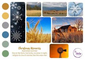christmas memories moodboard