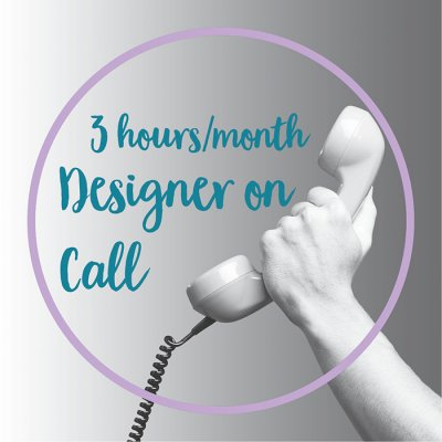 3 hours designer on call each month