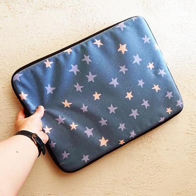 cosmo stars laptop case pattern