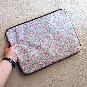 half a pompom lilac laptop sleeve