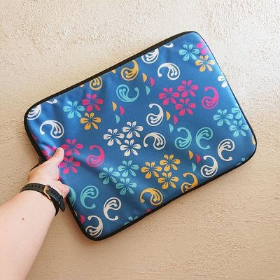 floral clash laptop sleeve design