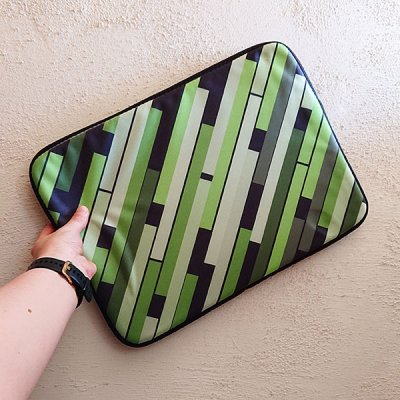 Linear Green laptop sleeve