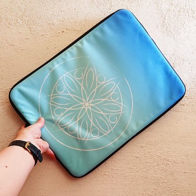 Mandala Blue laptop sleeve