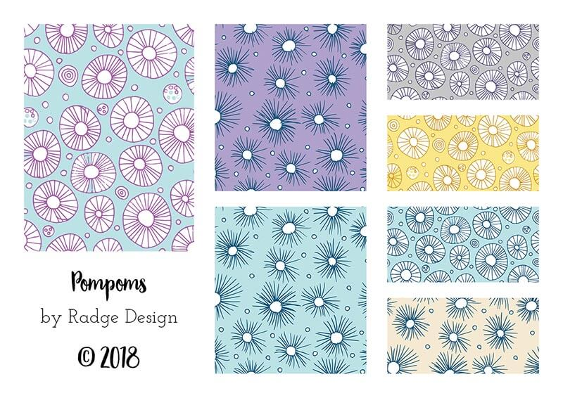 pompom surface pattern collection