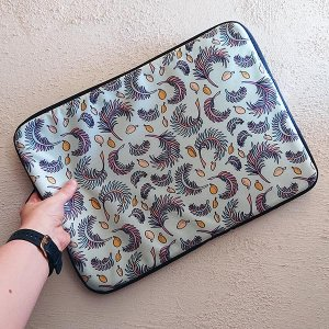 Tropical Papaya laptop sleeve