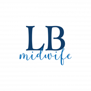 monogram inspired design for a midwife