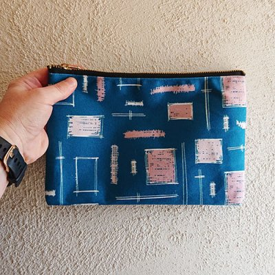 paintbrush teal perfect pouch for pencils