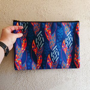 snakeskin inspired pattern on a pouch