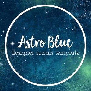 astro blue designer socials templates graphics for social media